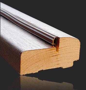 Порог деревянный для межкомнатной двери с уплотнителем