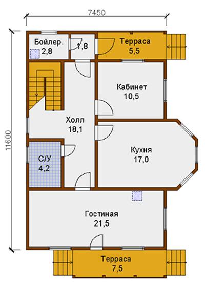 Планировка внутренних комнат дома