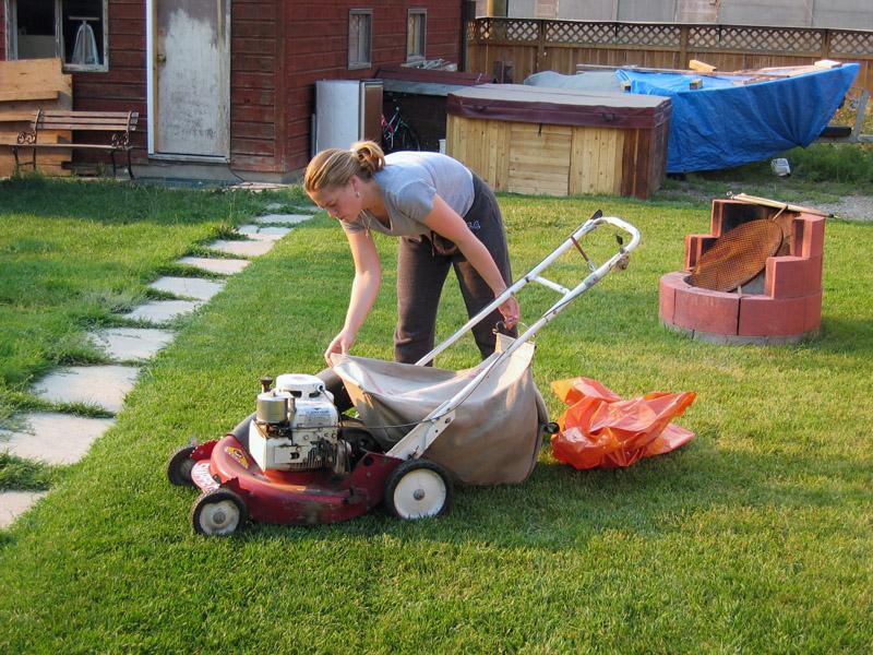 При подготовке к зиме газон должен быть подстрижен не очень коротко