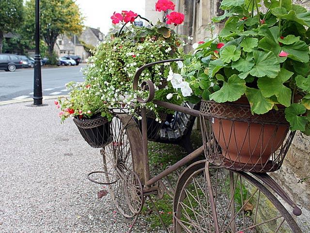Романтическая композиция, созданная с помощью велосипеда