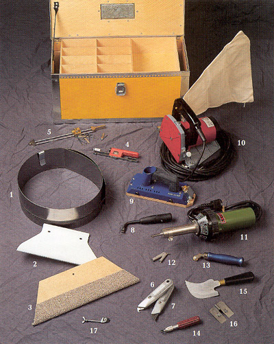 Инструмент для ремонта линолеума