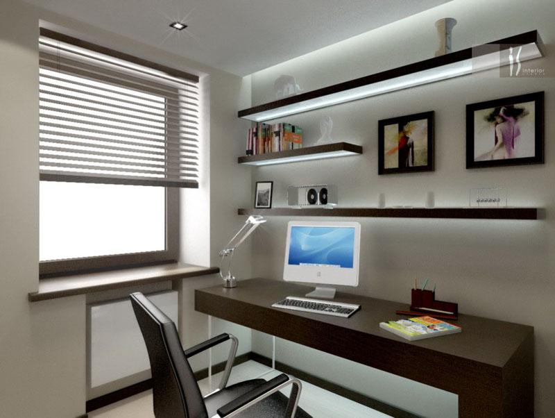 Рабочее место в офисе в стиле хай-тек