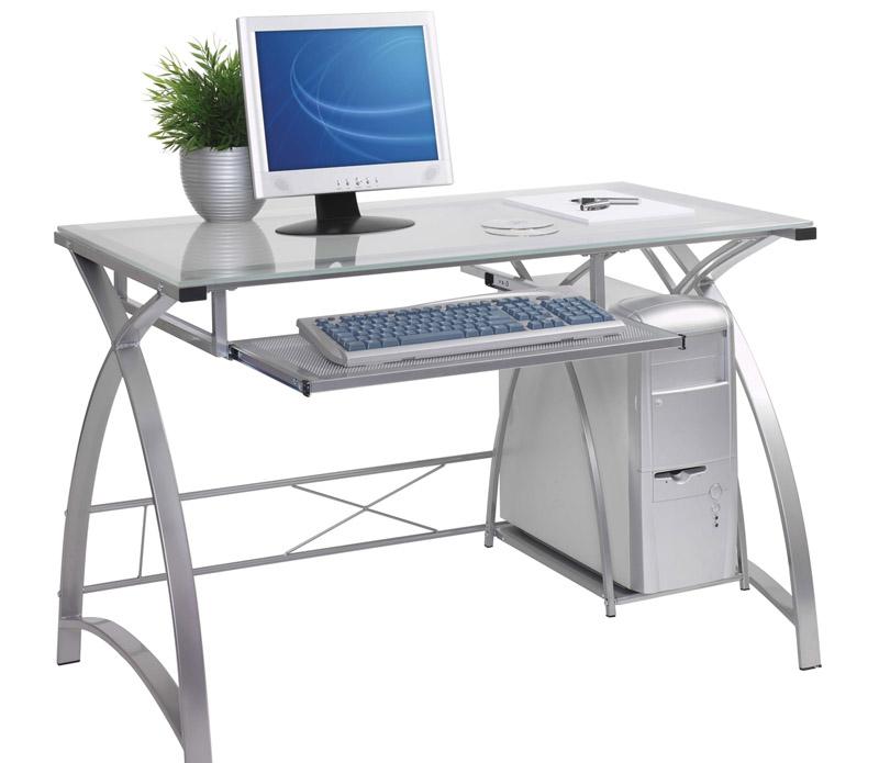 Компьютерный стол в стиле хай-тек красивый, но не практичный