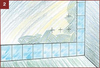 Проверка уровня укладки керамической плитки на пол