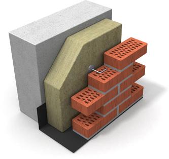 Утепление фасадов - система колодцевой кладки