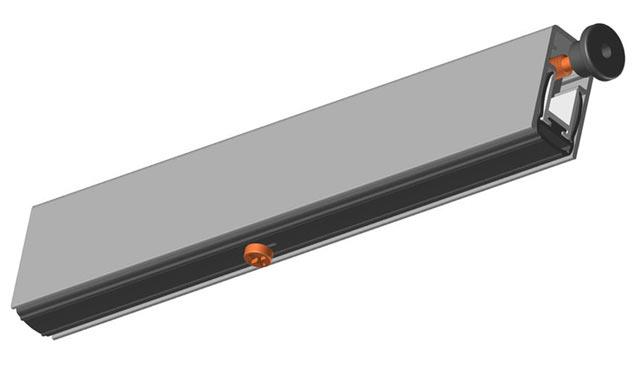 В конструкцию порога-гильотины входит уплотнитель