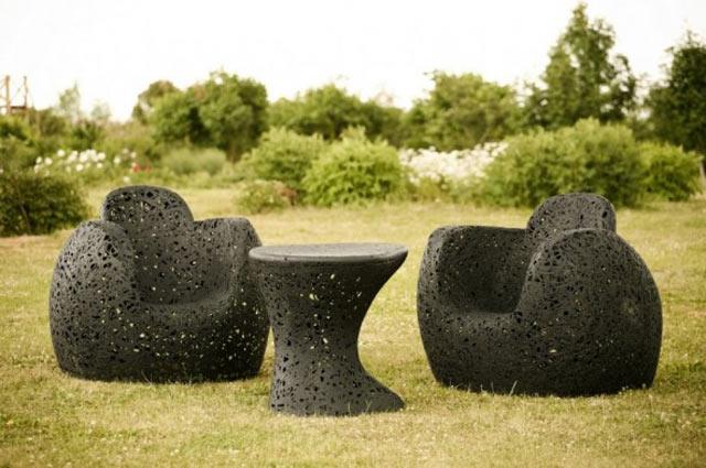 Необыкновенная базальтовая мебель