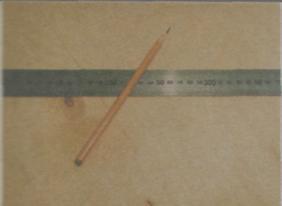 Инструменты для разметки и фиксации древесины - Линейка и карандаш
