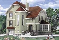 Большой капитальный загородный дома