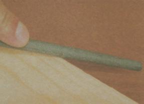 Шлифование древесины круглым напильником