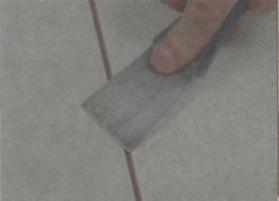 Рис.27. Использование штапеля для затирки шва