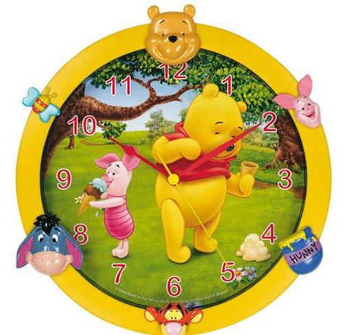 часы в интерьере детской комнаты