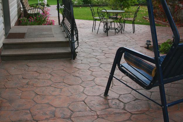 Декоративный печатный бетон