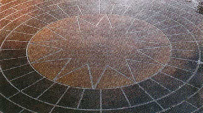 Терраццо(декоративный бетон из цветных цементов и дробленого мрамора)