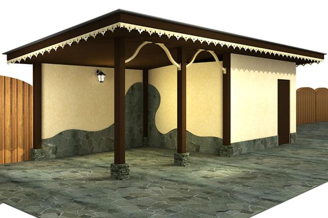 Двускатная крыша на хозблок своими руками