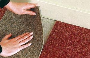 Ковровое покрытие из антрона во многом напоминает облицовочную плитку