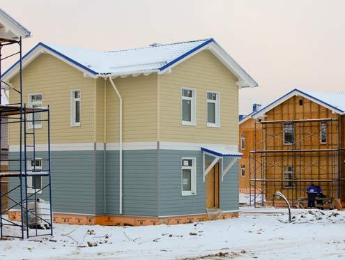 SIP-панели используют для возведения основных элементов дома: стен, перекрытий и крышевых конструкций.