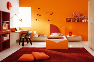 Оранжевый цвет в интерьере, сочетание оранжевого цвета в интерьере