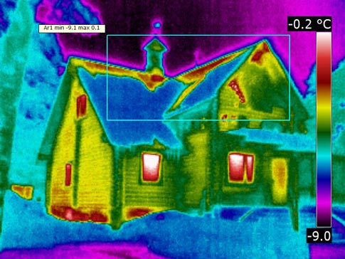 Результаты обследования дома тепловизором.