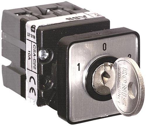 Байпасный кулачковый переключатель с управлением ключом