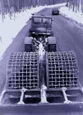 Рис. 3. Прицепной решетчатый каток весом 25 т